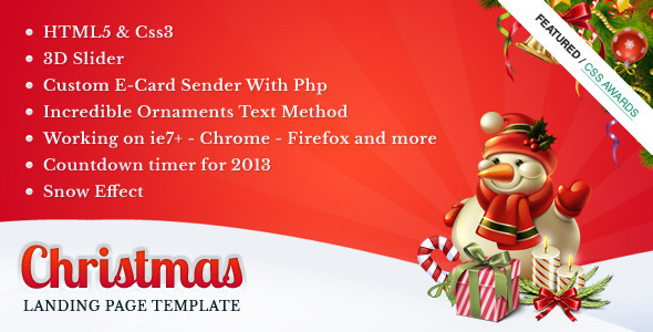 ThemeForest Christmas Landing Page 3614544