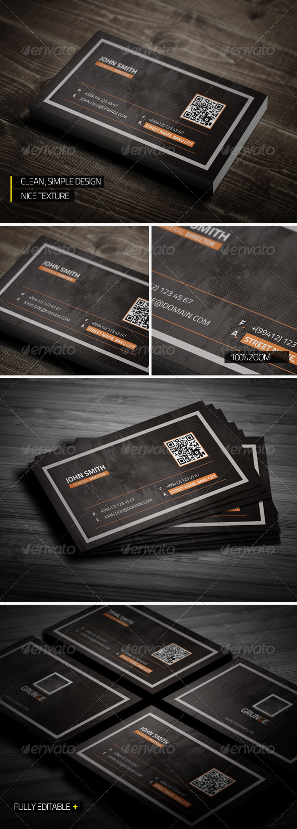 GraphicRiver Grunge Business Card 3669590
