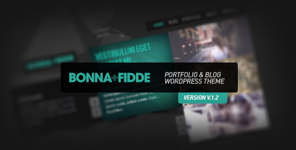 Bonna Fidde - Portfolio & Blog Wordpress Theme