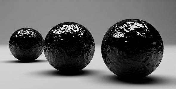 VideoHive Black Spheres 3669797