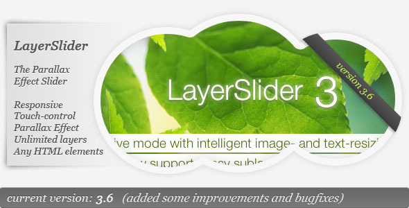 CodeCanyon LayerSlider The Parallax Effect Slider 922100