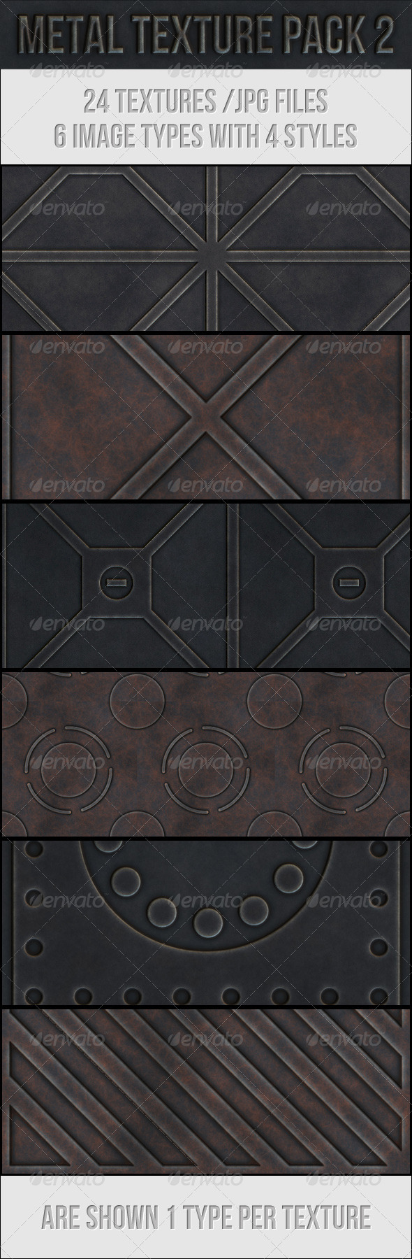 GraphicRiver Metal Texture Pack 2 3670136