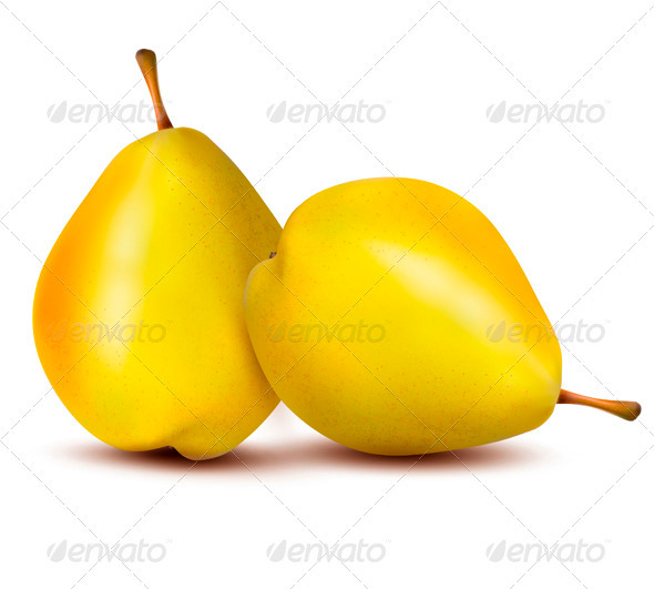 GraphicRiver Two Ripe Pears Vector 3670153