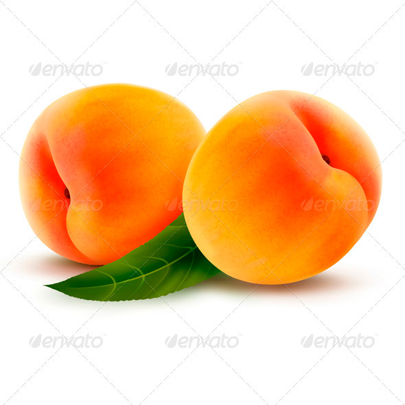 GraphicRiver Two Fresh Peaches Vector 3670160