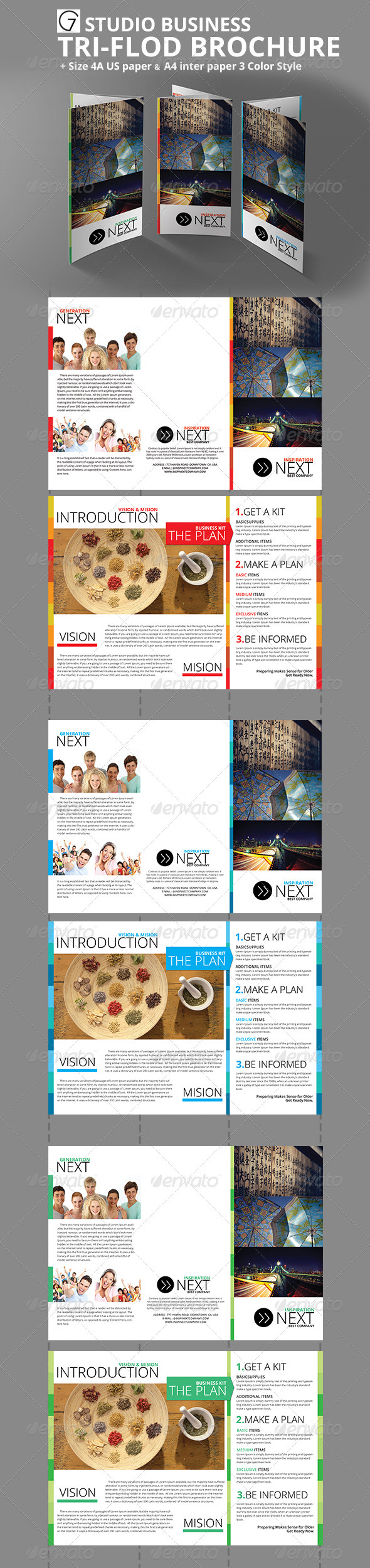 GraphicRiver Gstudio Business Tri-Fold Brochure 3670177