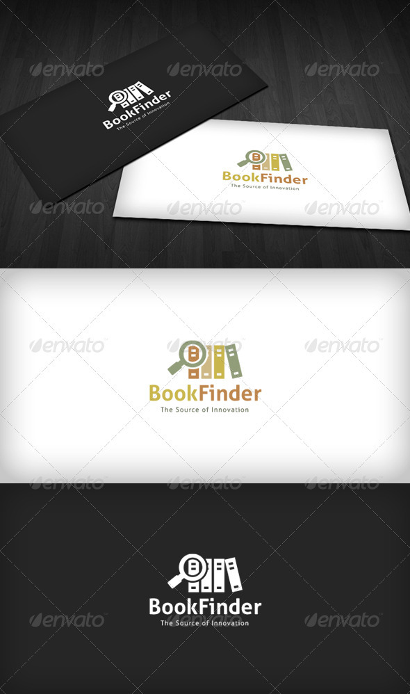 GraphicRiver Book Finder Logo 3670287