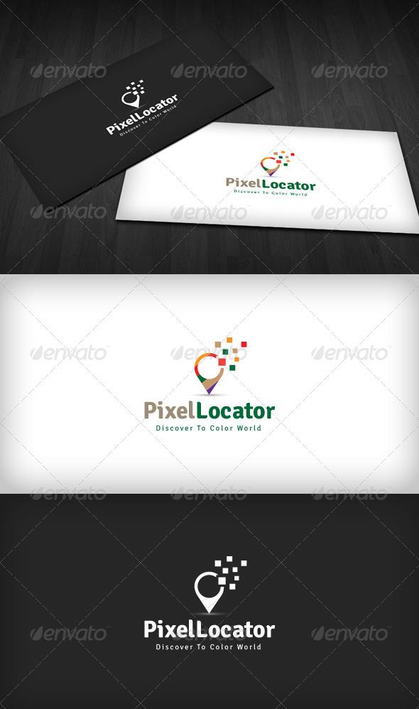 GraphicRiver Pixel Locator Logo 3670342