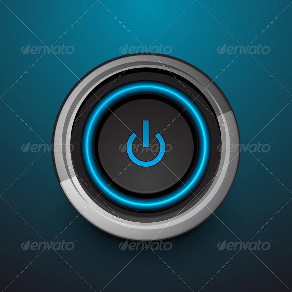GraphicRiver Vector Power Button 3670370