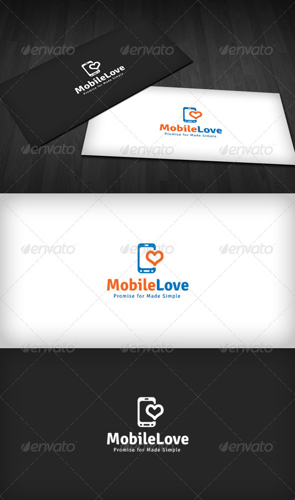 GraphicRiver Mobile Love Logo 3670372