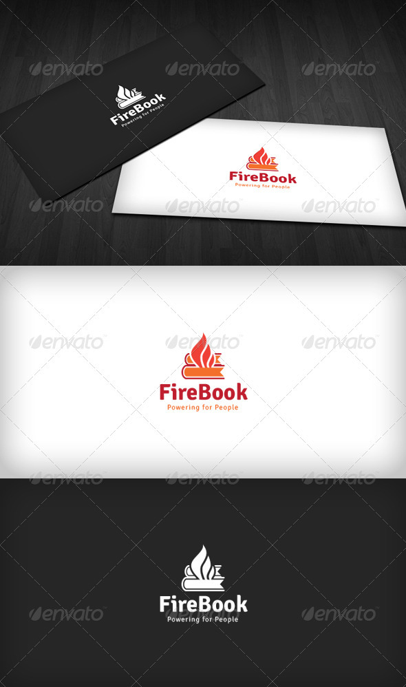 GraphicRiver Fire Book Logo 3670385