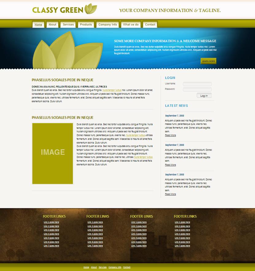 Classy Green - Homepage