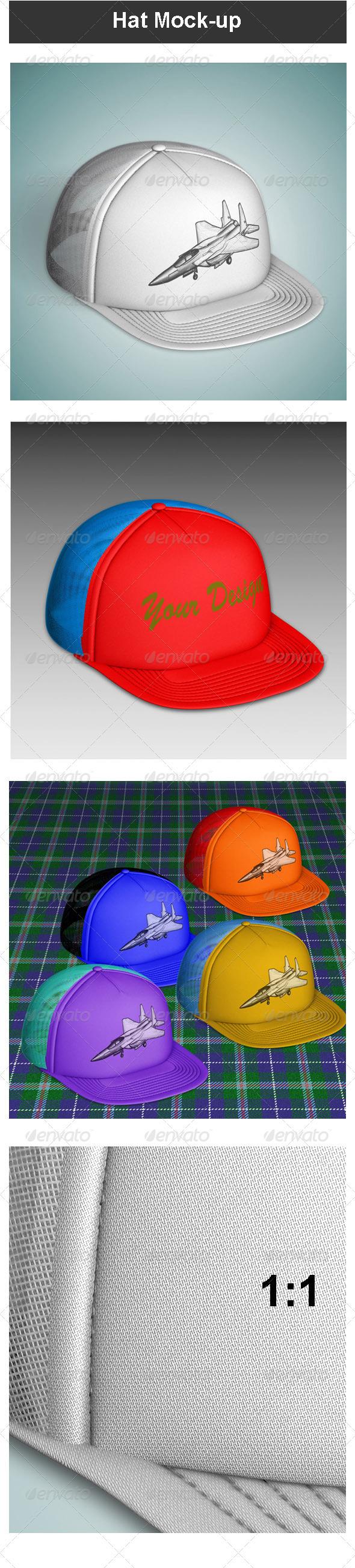 GraphicRiver Hat Mock-up 3670504