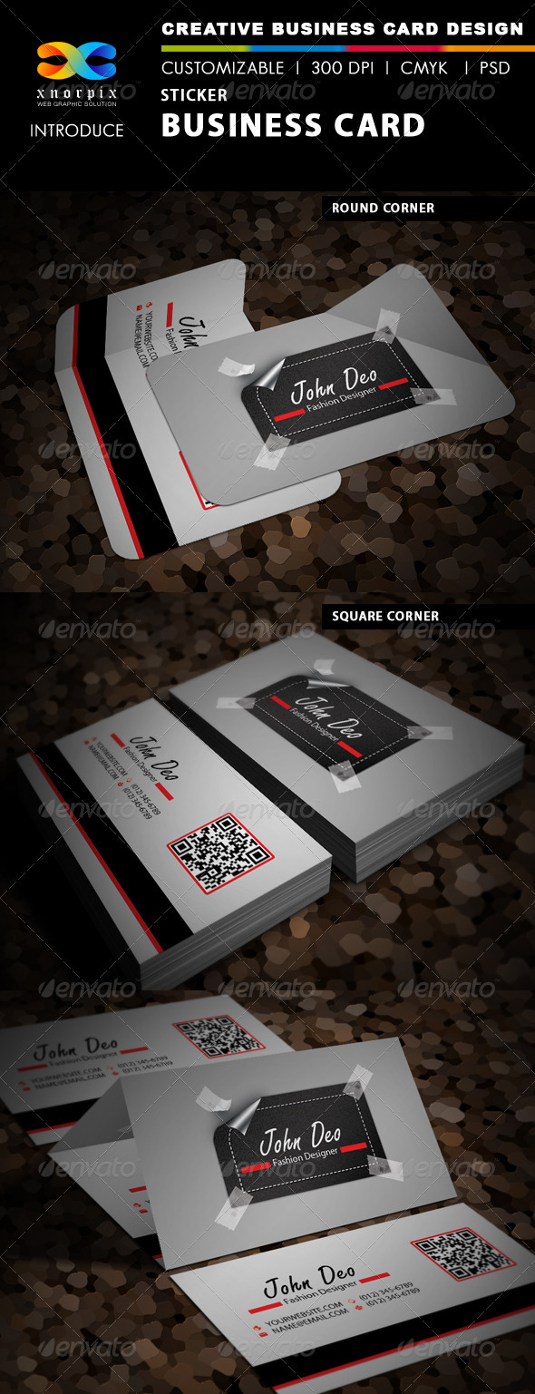 Sticker Business Card - Creative Business Cards