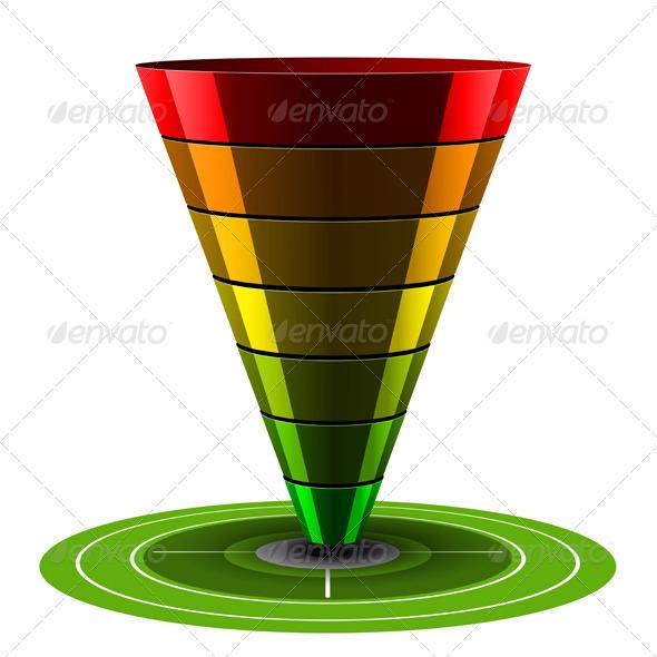 GraphicRiver Conversion or Sales Vector Funnel 3670622
