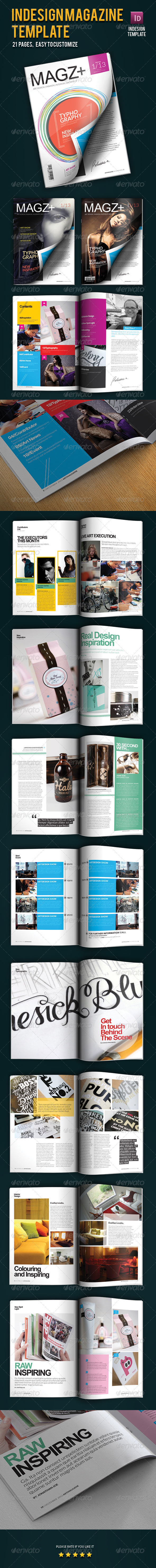 GraphicRiver Indesign Magazine Template 3409205