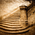 Vintage brick staircase