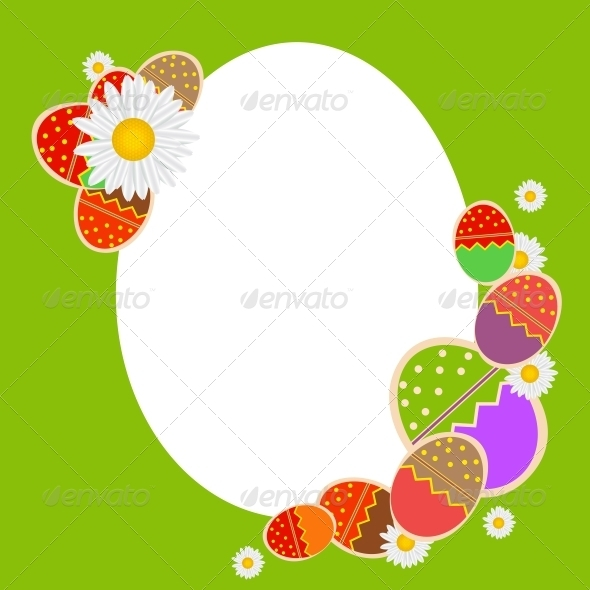 GraphicRiver Easter Eggs Card with Colourful Eggs 3670786