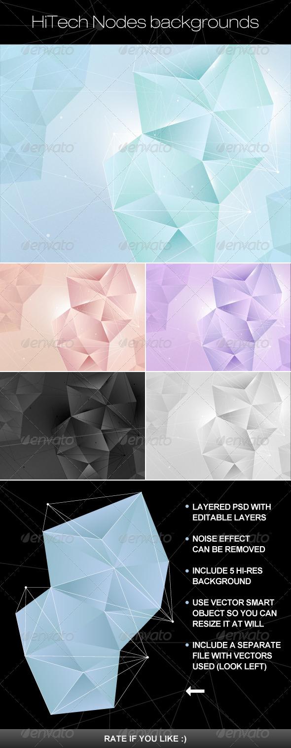 GraphicRiver Hi Tech nodes background 3638325