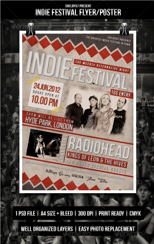 GraphicRiver Indie Festival Flyer Poster 3670837