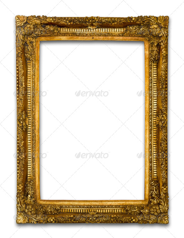 PhotoDune Ancient Gold wood frame 3671153