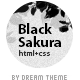 Black Sakura HTML - ThemeForest Item for Sale