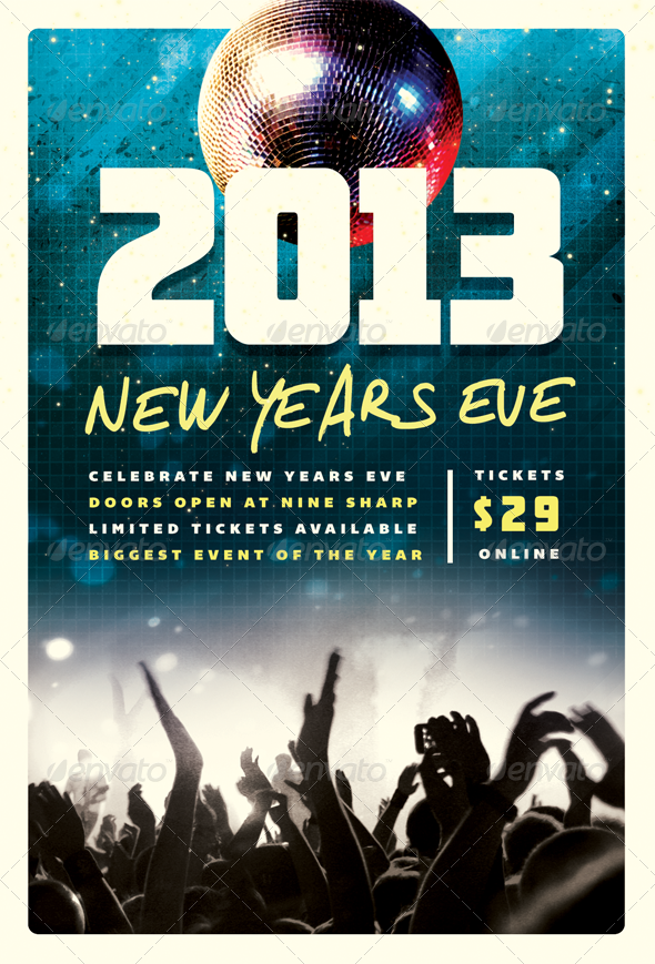 GraphicRiver Countdown New Years Eve Flyer Template 3671566