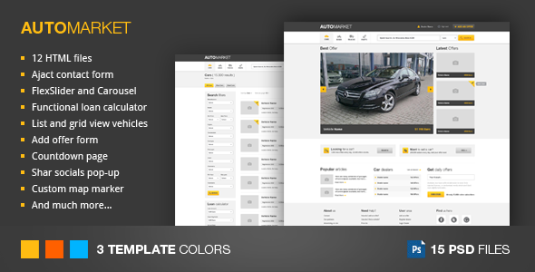 AutoMarket - HTML Vehicle Marketplace Template - Business Corporate
