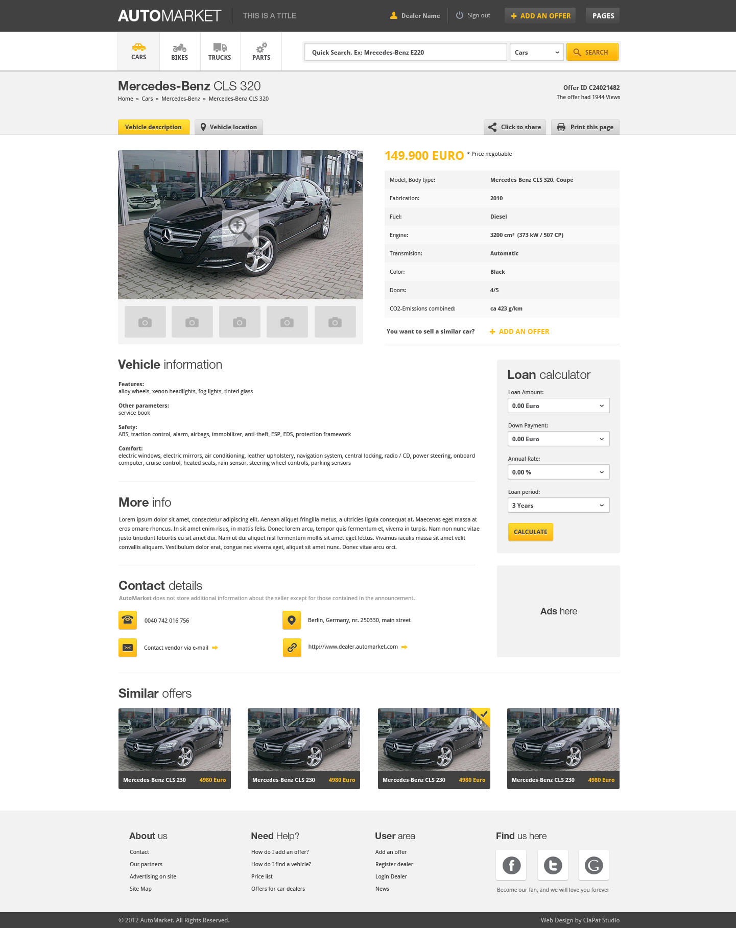 AutoMarket - HTML Vehicle Marketplace Template