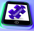 Innovate On Smartphone Showing Creative Ideas