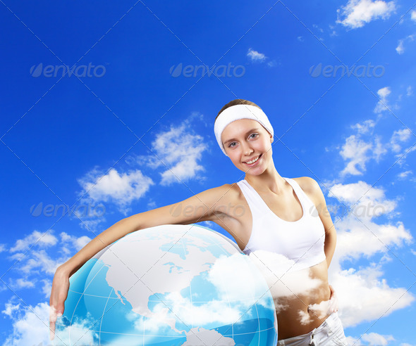 PhotoDune Sport woman and our planet 3674514