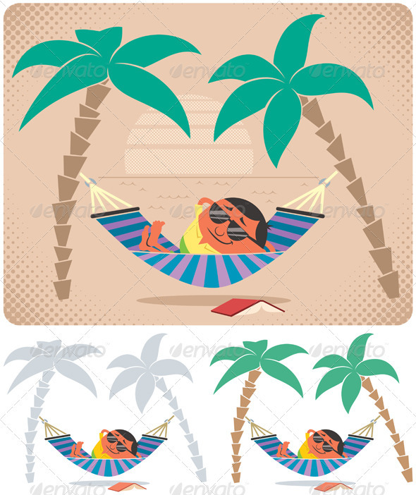 Hammock Relaxation - People Characters