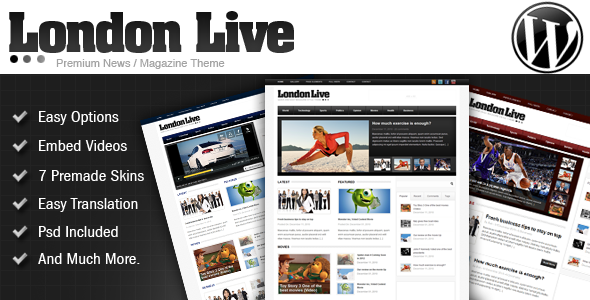 ThemeForest London Live 3 In 1 News Magazine And Blog 154462
