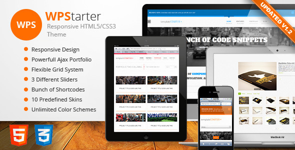 WPStarter - Responsive HTML5/CSS3 Theme