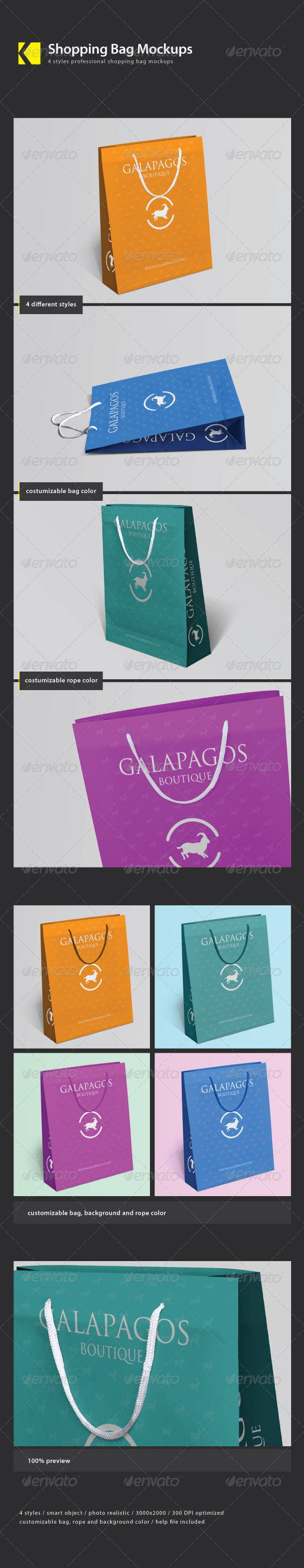 GraphicRiver Shopping Bag Mockups 3673984
