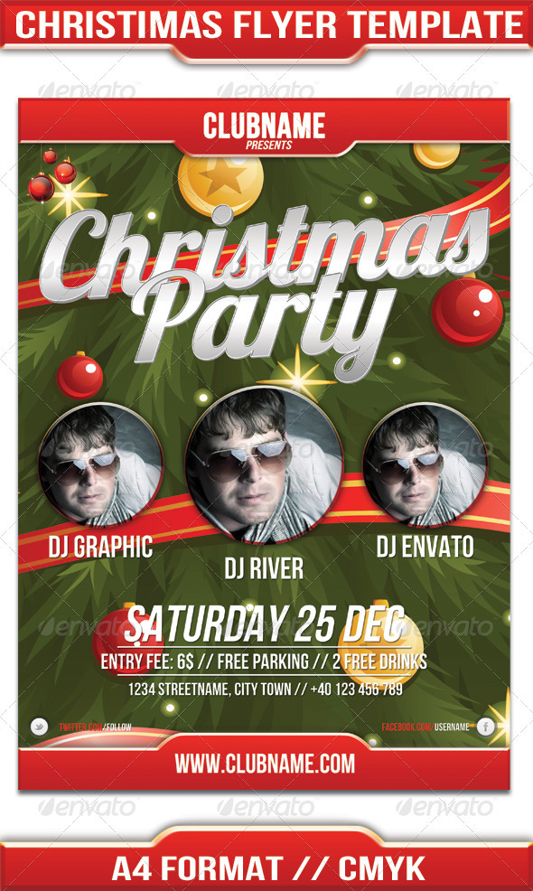 GraphicRiver Christmas Party Flyer 3614818