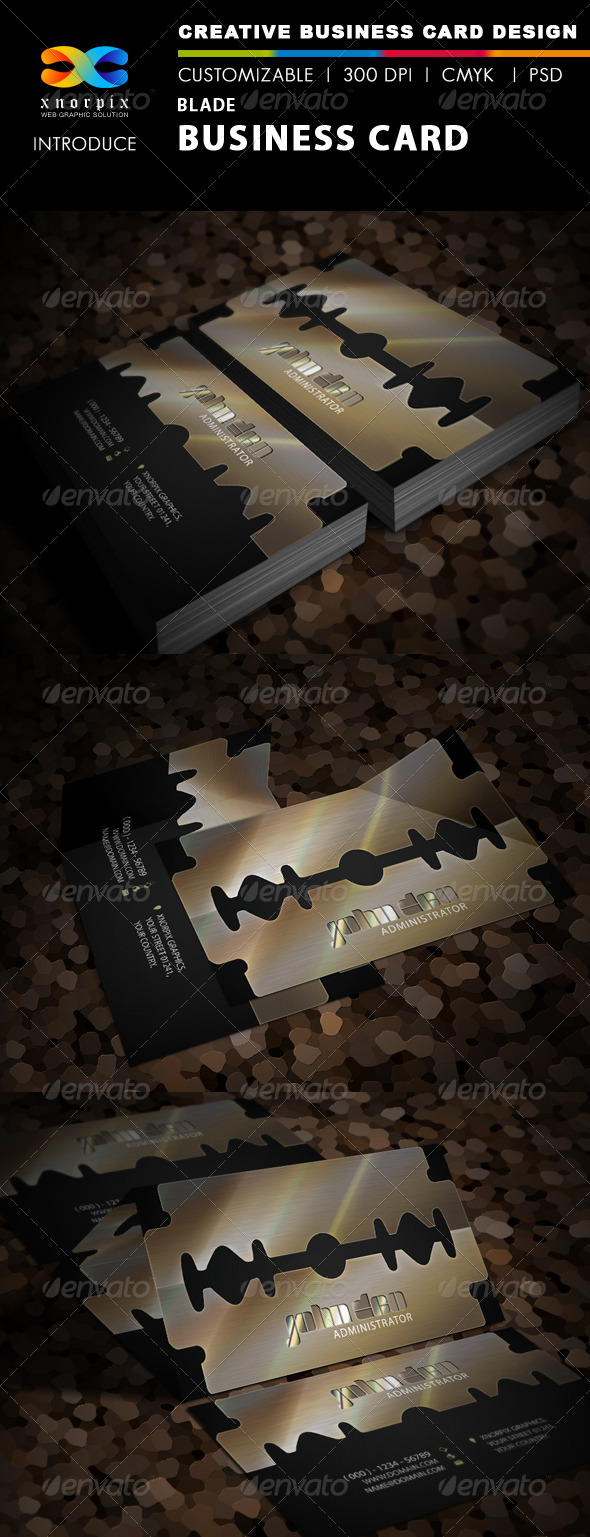 Blade Business Card - Creative Business Cards