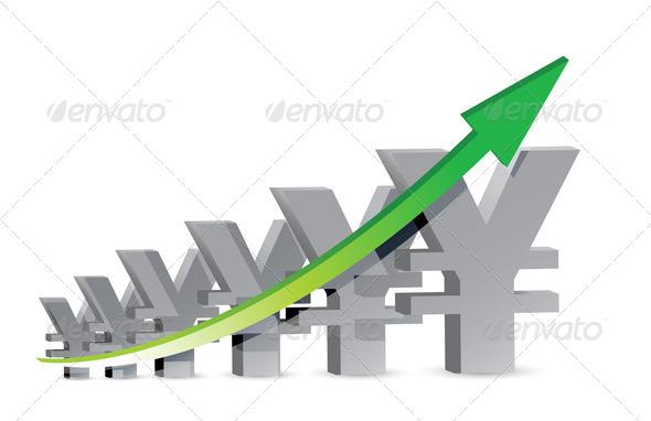 PhotoDune yen Business Graph 3675600