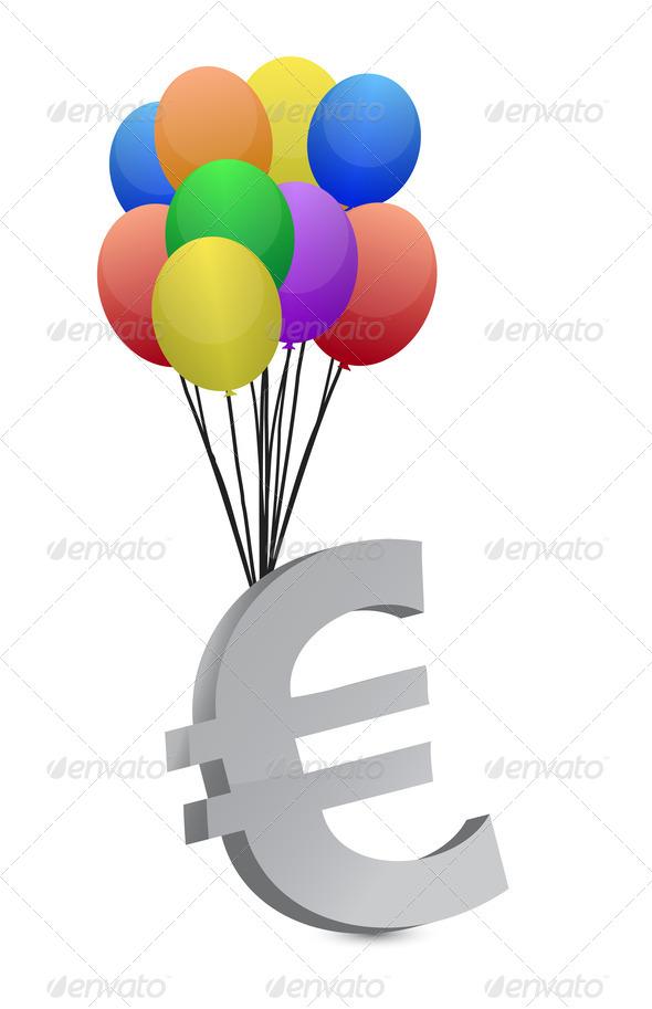 PhotoDune euro flying away 3675618