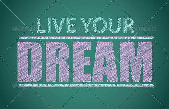 PhotoDune Blackboard with Inspiration message 3675623