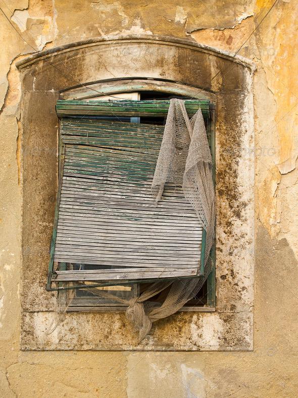 PhotoDune Old Window Blinds 3675743