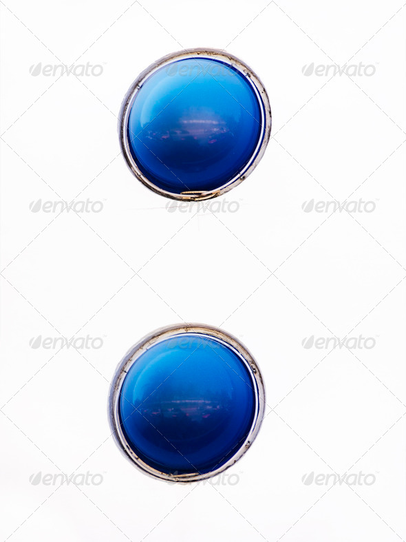 PhotoDune Two Blue Window Domes Abstract 3675757