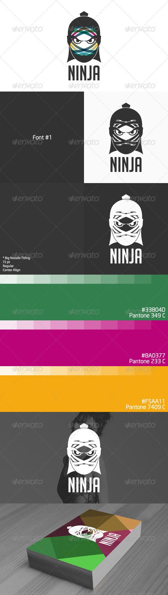 GraphicRiver Ninja Logo 3612614
