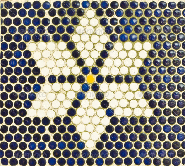 PhotoDune Old mosaic tile wall 3675784
