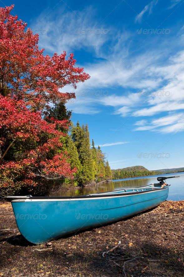 PhotoDune Kayak Boat during sunny day 3675821