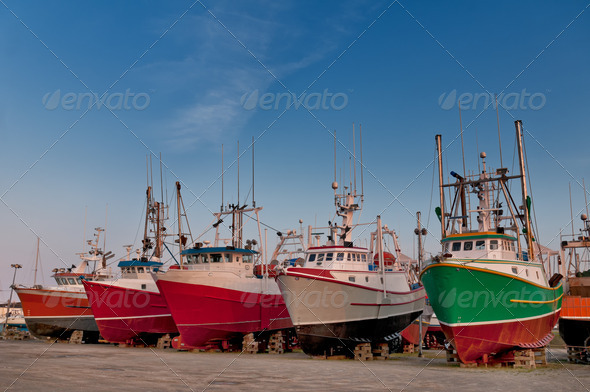 PhotoDune Fish trawler on land 3675813