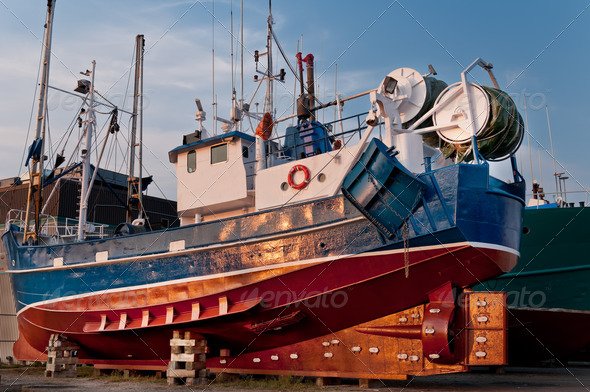 PhotoDune Fish trawler on land 3675817