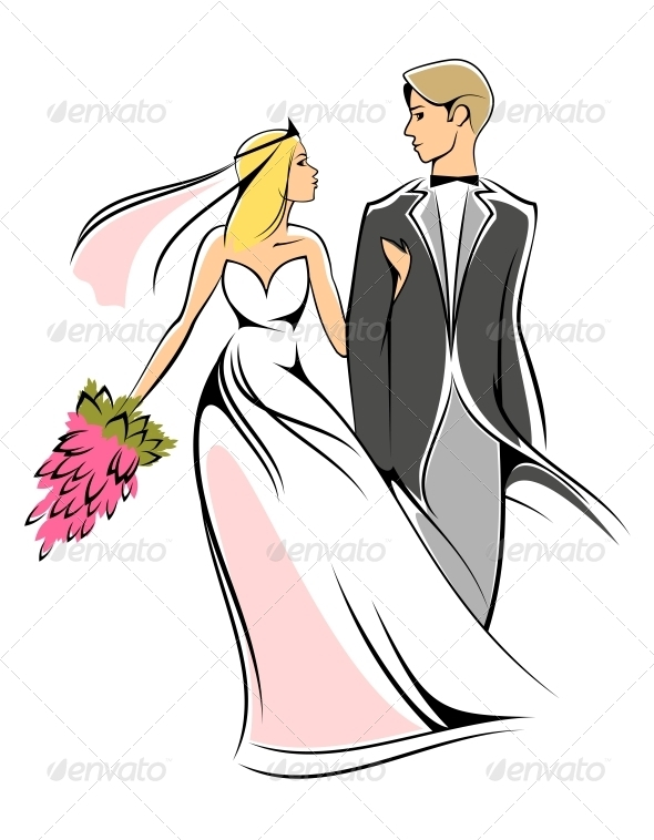 GraphicRiver Bride and Groom 3676014