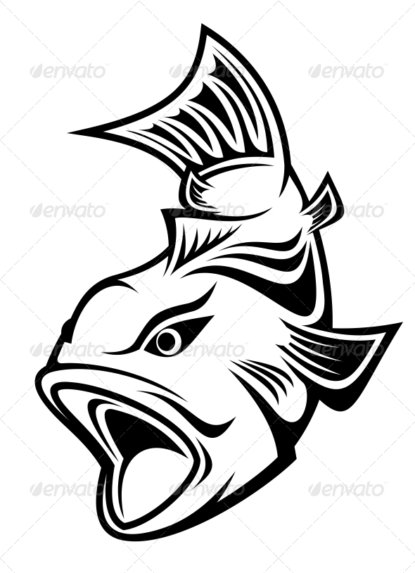 GraphicRiver Fishing Symbol 3676091