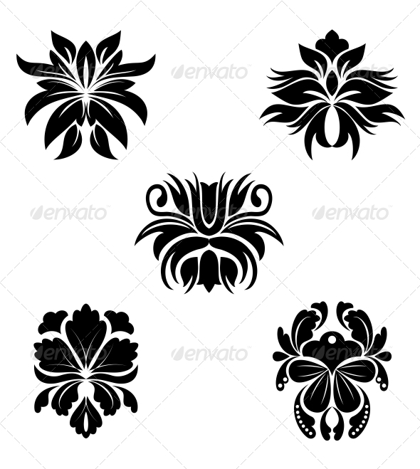 GraphicRiver Flower Patterns 3676092