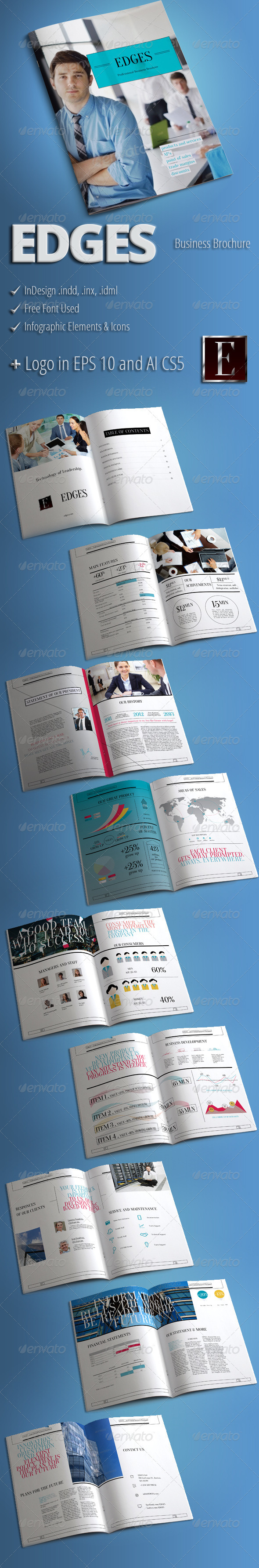 GraphicRiver EDGES Modern Business Brochure 3676272